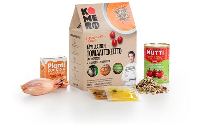 Komero tuotteet täyteläinen tomaattikeitto